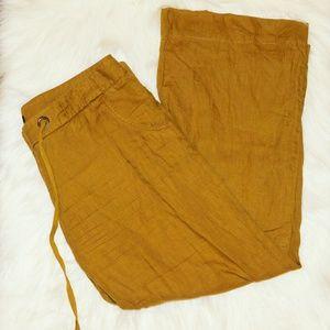 J.Crew | City Fit Wide Leg 100% Linen Pant SZ 8